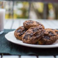 biscotti senza glutine con gocce di cioccolato