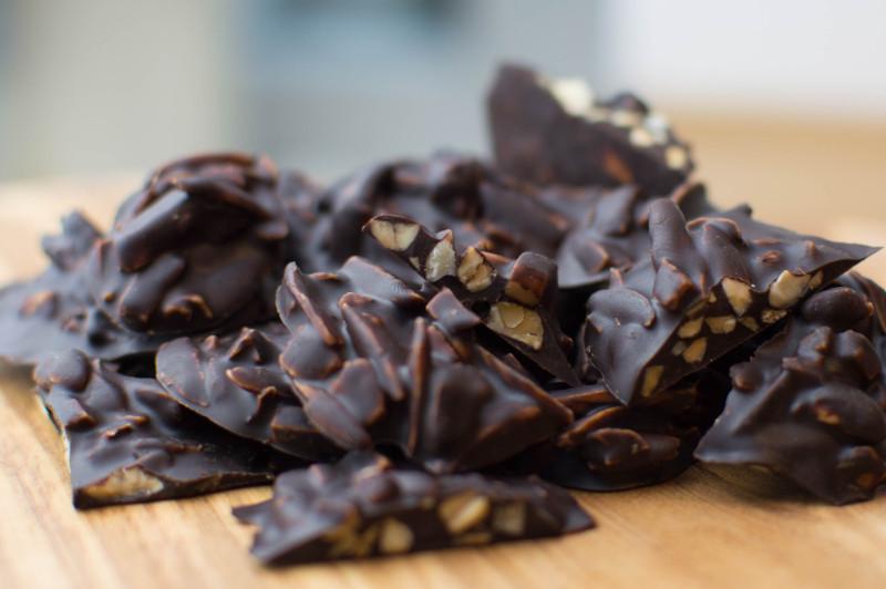 Mandorle tostate ricoperte di cioccolato