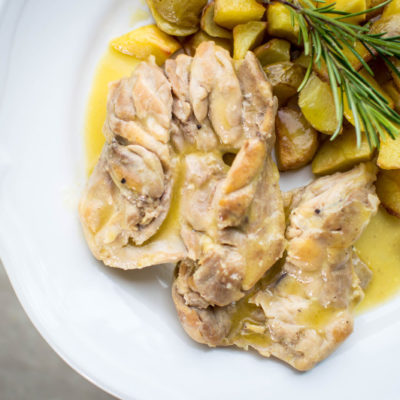 sovracosce di pollo al limone e vino bianco
